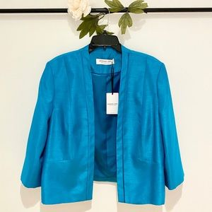 ❤️ Jacques Vert Open Front Satin Trim Jacket